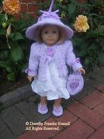 "Dolls Clothes  PATTERN ""Fleur de Lilas"" American Girl, Kidz'n'Cats, Gotz 18"""