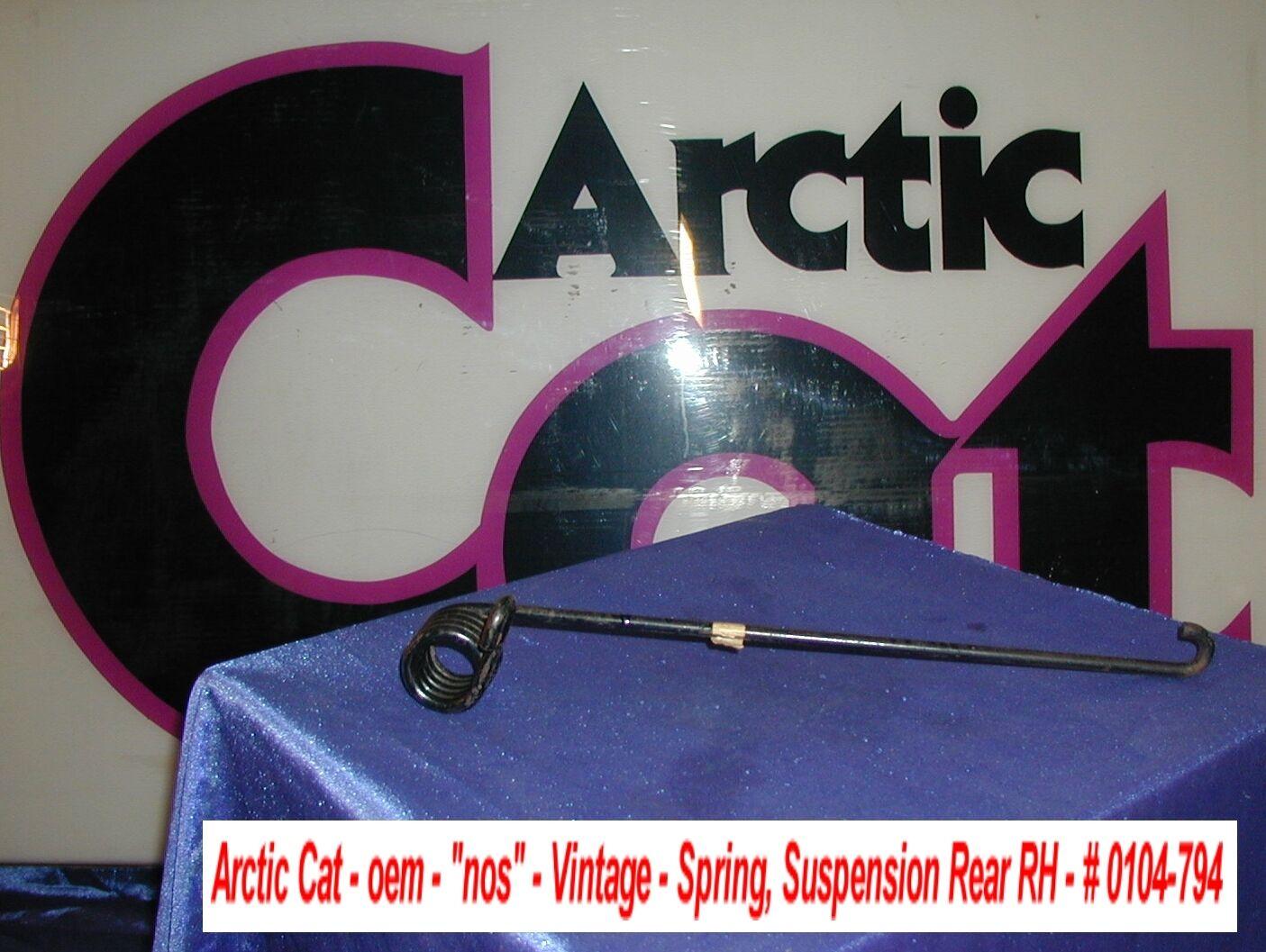 Arctic Cat Rear Suspension Spring NOS Rear-Right '75 El Tigre Z