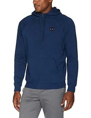 Men/'s Navy Under Armour ColdGear Rival Fleece Fitted Full Zip Hoodie NWT