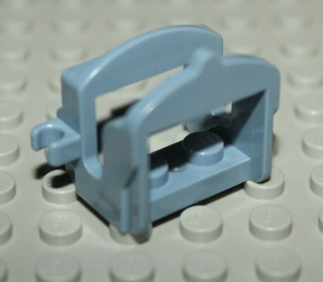 Lego Castle Sand Blue Horse Saddle w// 2 Clips NEW