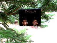 Eisenberg Ice Crystal Snowflake Fishhook Pierced Earrings