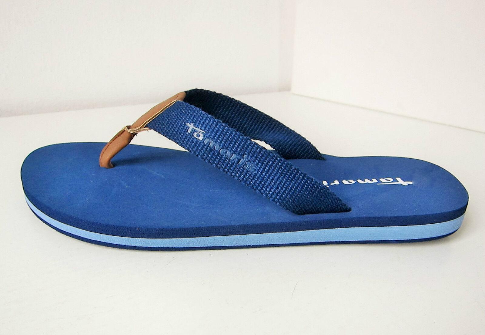 Tamaris Riemchen Sandale blau  Gr. navy 39 Zehentrenner thongs blue navy Gr. 447f15