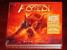 Accept: Blind Rage - Limited Deluxe Edition CD + DVD Set 2014 NB Digipak NEW