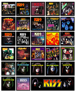 KISS-multi-pack-of-28-REFRIGERATOR-MAGNETS-Casablanca-singles-record-sleeves