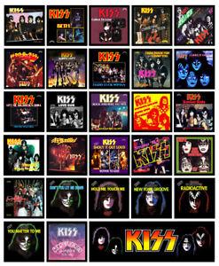 KISS multi pack of 28 REFRIGERATOR MAGNETS - Casablanca singles record sleeves