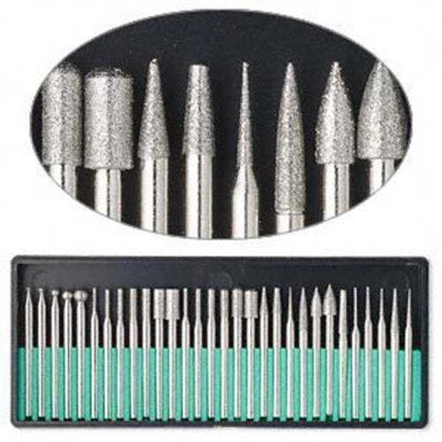 30 Teiliges Set Diamant Grat Rotationswerkzeug Bit Set Gravur Fliesen Stein Glas