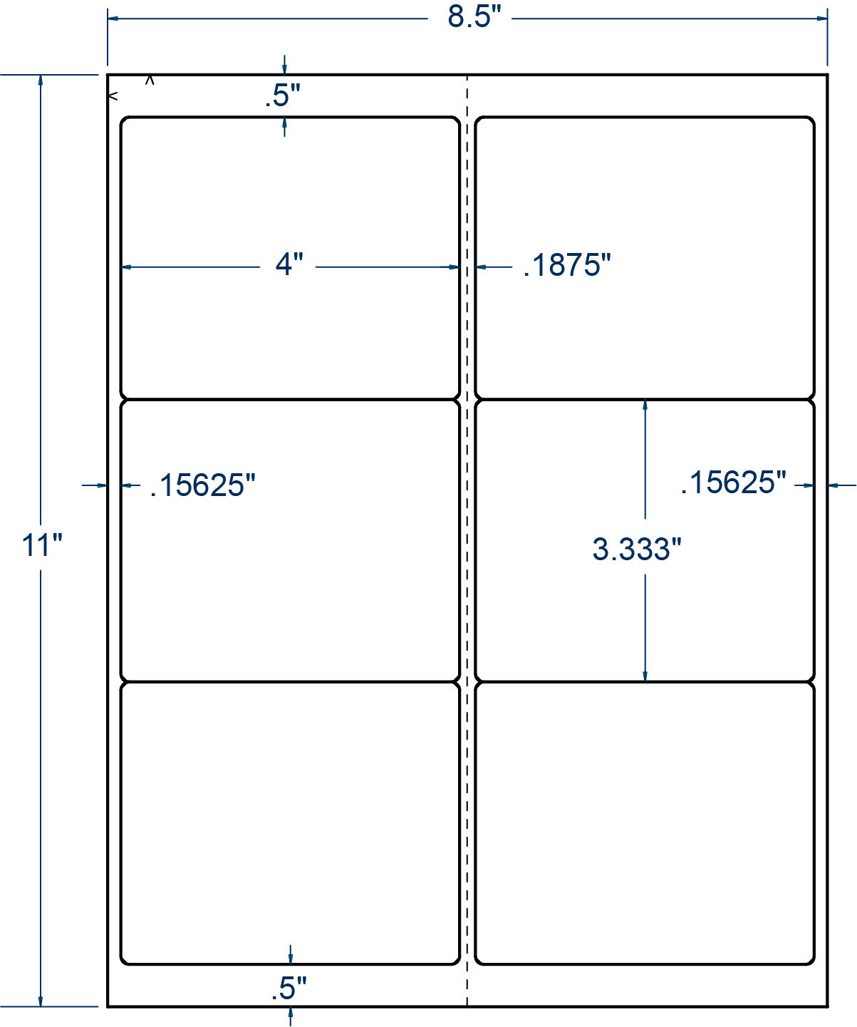 4  x 3-1 3  Weather Resistant Poly Perm Laser Compulabel 100 Sheet (371033)