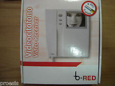 "BPT BRED 62117400 VRW201 monitor 4"" b/n videocitofono bianco 2 fili parete B-RED"