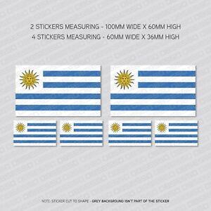 6 x Chile Chilean Flag Vinyl Stickers Decals Window Car Van SKU5530