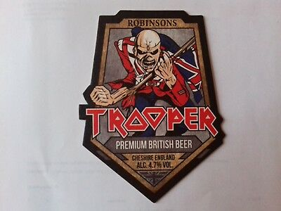 Iron Maiden Trooper Beer Mat Round New x10