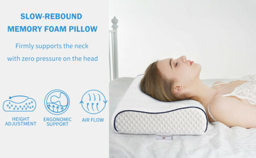 Angel Sleeper Memory Foam Pillow Orthopedic Pillow with Washable Pillowcase New!