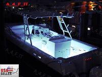 48 Pcs White Led Boat Light Waterproof 12v Deck Storage Kayak Bow Trailer Bass
