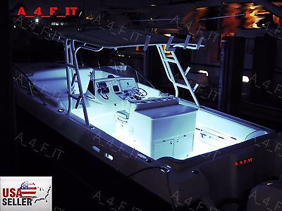 White LED Boat Lights Kit Waterproof Pod Bright LED Strips Marine Interior
