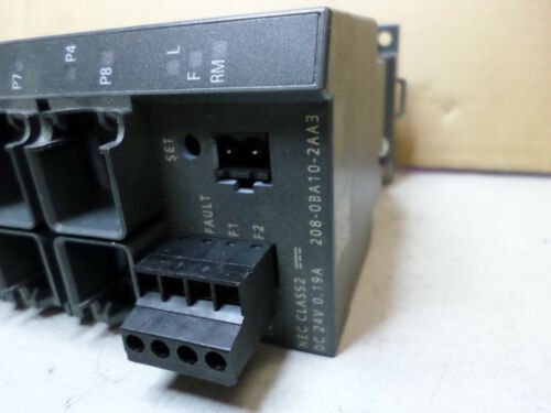 SIEMENS SIMATIC NET INDUSTRIAL ETHERNET SWITCH 8 port 6GK5-208-0BA10-2AA3