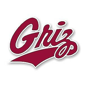 Montana Grizzlies vinyl sticker for skateboard luggage laptop tumblers car a