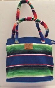 Image Is Loading Cozumel Mexico Tote Bag From Mexican Serape Blanket