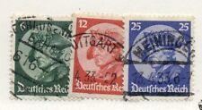 GERMANY #398-400 Used Scott $24.40