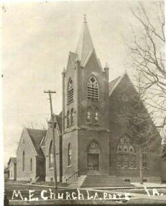 c1910s-La-Porte-City-Iowa-M-E-Church-RPPC-Real-Photo-Postcard-IA-Unposted