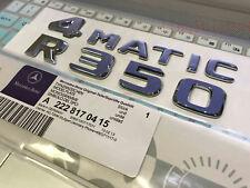 "2018 R500L 4 MATIC/"" High quality Rear Trunk Emblem Decal Badge FOR Mercedes Benz"