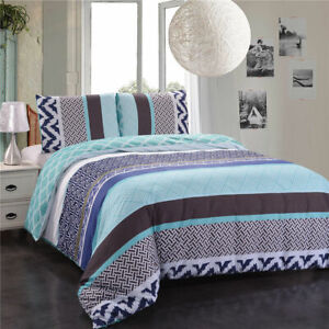 Simple-Stripes-Bed-Set-Duvet-Cover-Set-Quilt-Cover-Set-Queen-King-Size