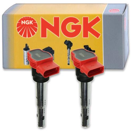 2 pcs NGK 48728 Ignition Coil for U5014 ZSE032 2505-300568 E1029 673-9302 so