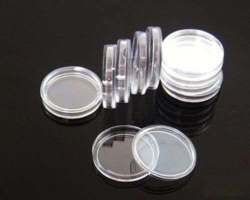 10 coin holders 39mm direct fit coin capsules for  1 OZ SILVER OR COPPER ROUNDS
