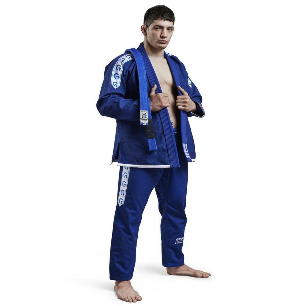 Gr1ps Classic BJJ Gi bluee White - Brazilian Jiu Jitsu