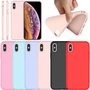 For-iPhone-XS-MAX-Soft-Silicone-Rubber-Cute-Matte-TPU-Slim-New-Case-Cover-Bumper