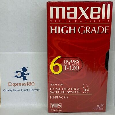 NEW Maxell 4 Pack //6 Hours Videocassette//vhs// T-120//246 Min SEALED