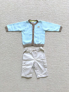 7ad49edad Baby boy Carter's Gap Easter outfit blue sweater cardigan khakis 6 ...