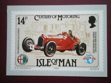 POSTCARD CAR ISLE OF MAN PHQ - ALFA ROMEO MANNIN MOTOR RACE 1934 - DRIVER HON BR