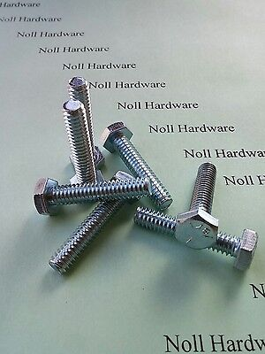"1//4-20 x 1-1//4/"" Full Thread Hex Bolt AKA Tap Bolt Grade 5 Lot of 100 ZP Steel"