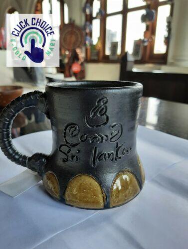 Save The Elephant Hand Made Coffee Mug Made In Sri Lanka High Quality Pottery