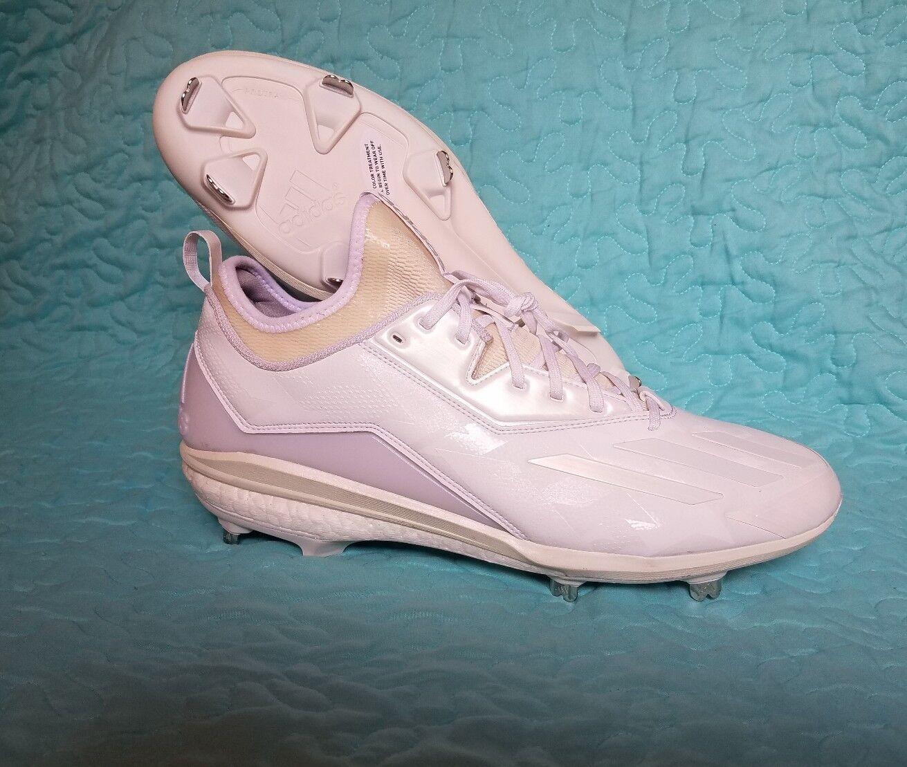 Adidas Boost Icon 2.0 Men's Baseball Cleats - Cloud White Silver Metallic B27499