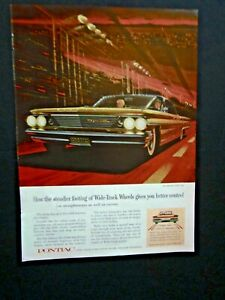 "1961 Pontiac Bonneville Sports Coupe-Fitz /& Van Art Original Print Ad-8.5 x 11/"""