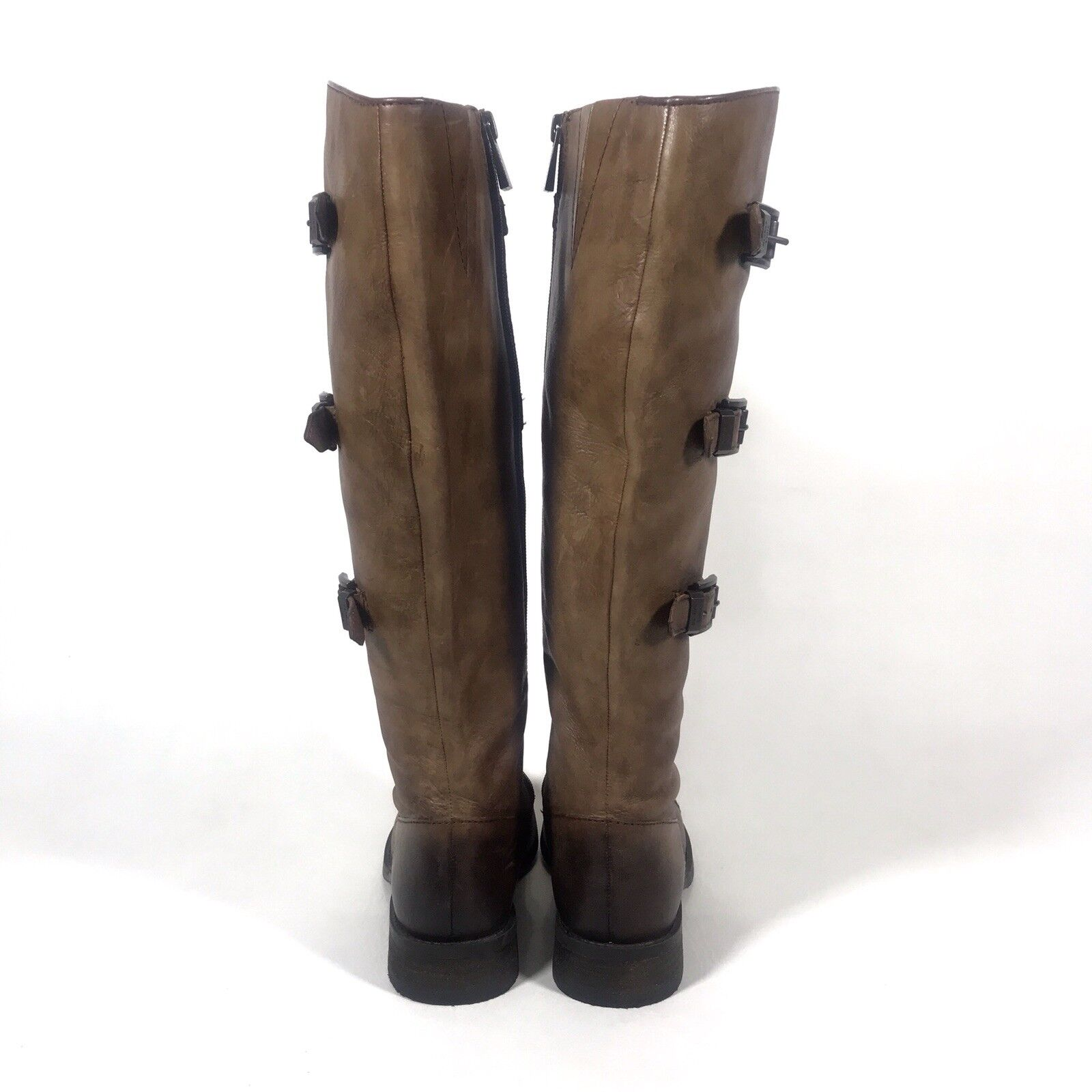 Vince Camuto 5.5M Mujeres Tamaño 5.5M Camuto alto Fenton Cuero Marrón botas De Montar con aspecto envejecido b1c834