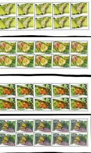 Wholesale Lot Butterflies. Tonga-Niuafo'ou #275-286 Perfd. x 6. Cat. 325.20