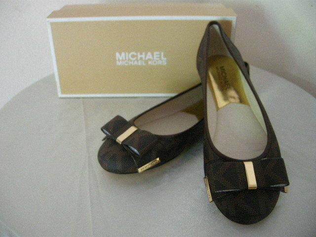 Authentic Michael Kors Kiera Women Ballet Flats Brown Size 5