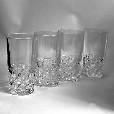 Crystal Cristal d/'Arques Durand Chateaudun Tall Flat Tumbler Set of 4