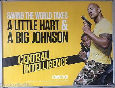 Cinema Poster Central Intelligence 2016 Right Quad Dwayne Johnson Kevin Hart Ebay