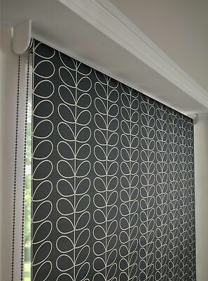 Orla Kiely Roller Blind Linear Stem Cool Grey Daylight