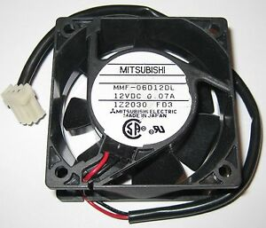 Mitsubishi-60-mm-Quiet-Fan-12-V-2500-RPM-Made-in-Japan-8-034-Long-Leads