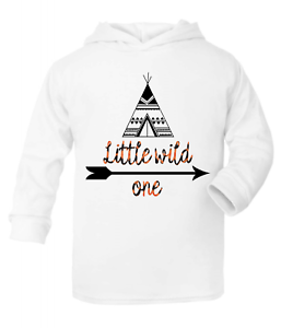 Little Wild One Kids Hooded Top Hoodie Boys Clothes Tops Fashion Girls Top Quote