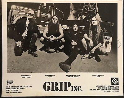 Intellective Grip Inc Band Signed 8x10 Photo Auto Metal Group Lombardo Chambers Sorychyta Music 1!