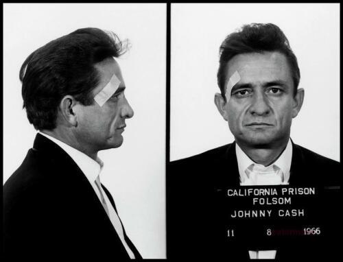 JOHNNY CASH MUGSHOT FOLSOM STATE PRISON NOV 1966 PHOTO PRINT ALL SIZES