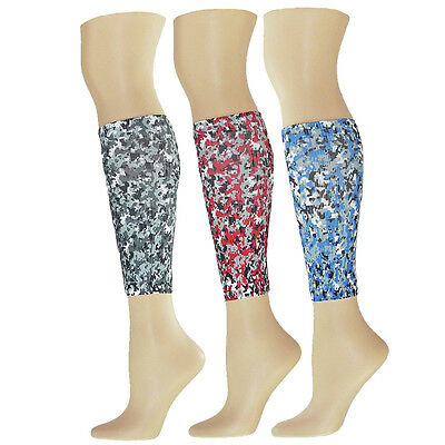 MICRO CAMO Compression Running Leg Sleeves Calf Shin Splint Womens Mens track