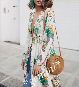 giacca kimono zara floreale
