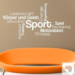 Wandtattoo Sport Wortwolke Für Fitness Fans Von Designscape Ebay