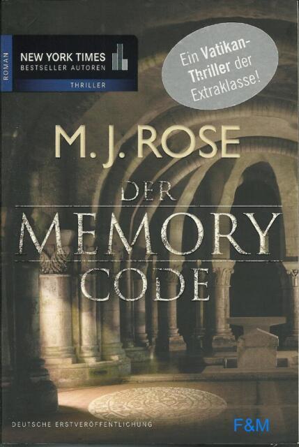 Der Memory Code   M.J.Rose  Thriller  Taschenbuch   ++Ungelesen++
