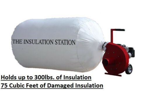 HOLDS UP TO 300 LBS BEST QUALITY 6 INSULATION REMOVAL VACUUM BAGS 75 CU FT